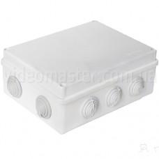 Коробка распределительная наружного монтажа 200×155×80 мм с вводами