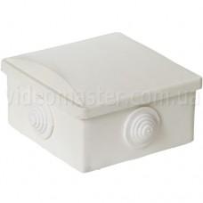Коробка распределительная наружного монтажа 80×80×40 мм с резиновыми кабельными вводами
