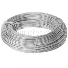 Трос стальной оцинкованный в ПВХ изоляции 2/3мм(100 м)