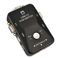 KVM переключатель на 2 порта