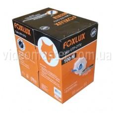 Витая пара  FoxLux UTP 4х2х0,5мм, (CCA) для внутр. работ, blue, 100м.
